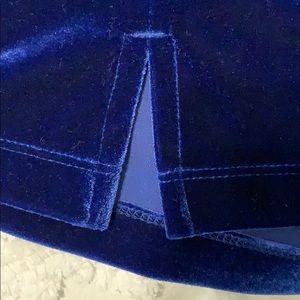 Chico's Tops - Royal Blue Velvet Tank Top